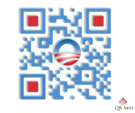 obama qrcode,obama qr code, designer qrcodes, politics, political, campaign, 2012, dnc, democrat, barack, donnelly, qrarts